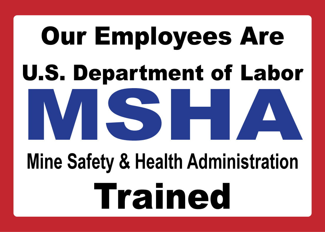 MSHA trained service technicians