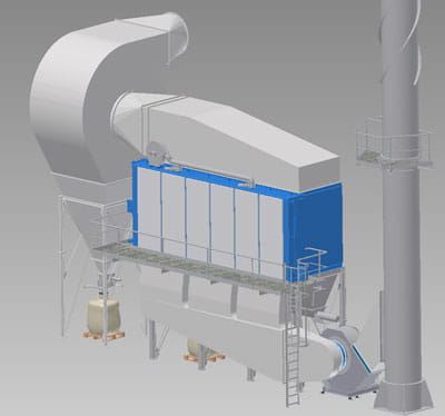 FS Flat Bag Dust Collector Drawing 1