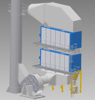 FS Flat Bag Dust Collector Drawing 2