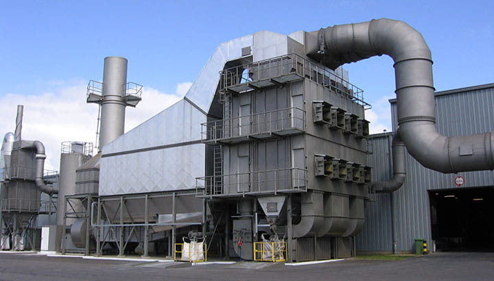 Foundry and Smelter Dust Collector and Gas Cooler