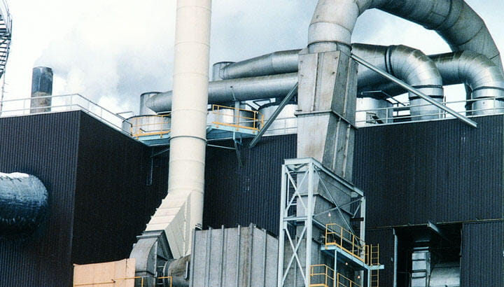 Filters and wet scrubbers for detergent manufacturing